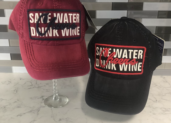 SAVE WATER DRINK WINE VINTAGE BALLCAP