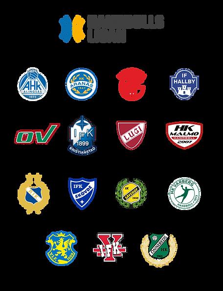 handbollsligans olika klubbar vi är partner med