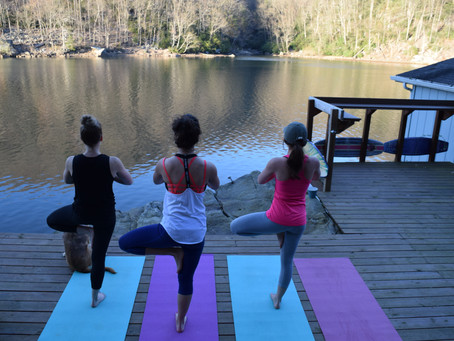 First Lakeside Yoga Session
