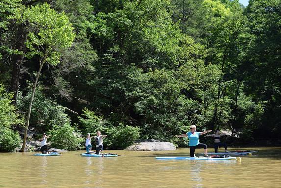 Cheat Lake Paddleboard Yoga