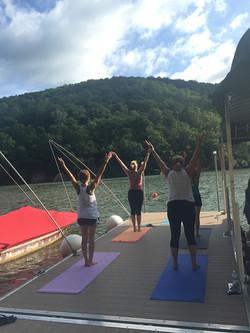Yoga at Cheat Lake