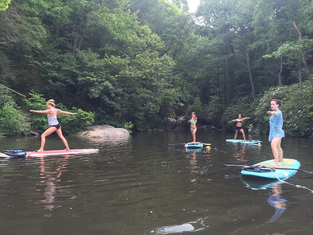 Cheat Lake paddle board yoga