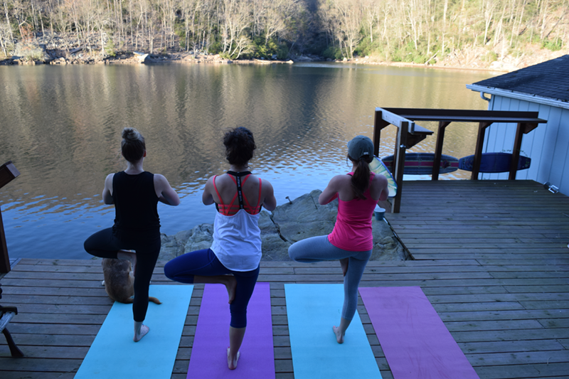 Yoga at Cheat Lake