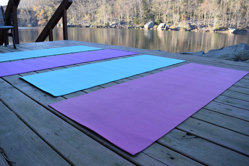 Yoga Mats at Cheat Lake