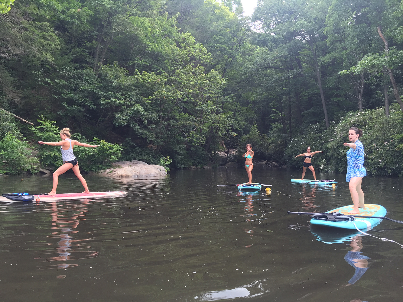 Cheat Lake Paddle Board Yoga