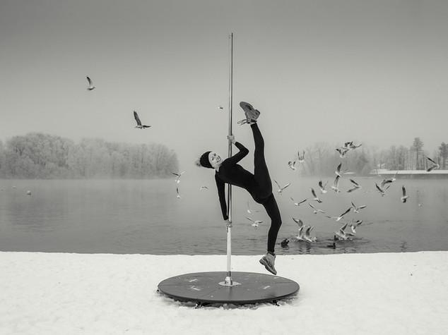 Fotograf für Plakatfotos Pole Dance