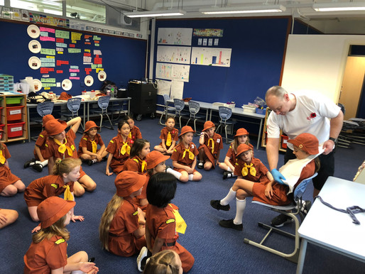 Brownies learn first aid