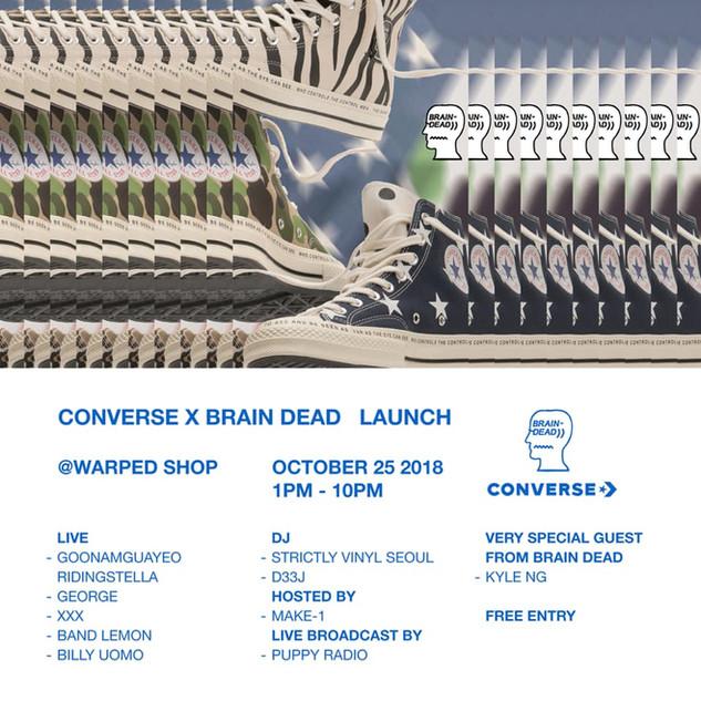 CONVERSE X BRAIN DEAD