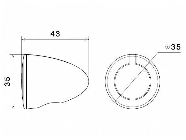 Размер поворотников Rizoma IRIDE