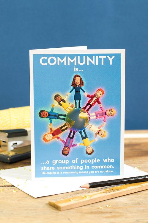 "Personalised ""Community"" Wellbeing Greeting Card"