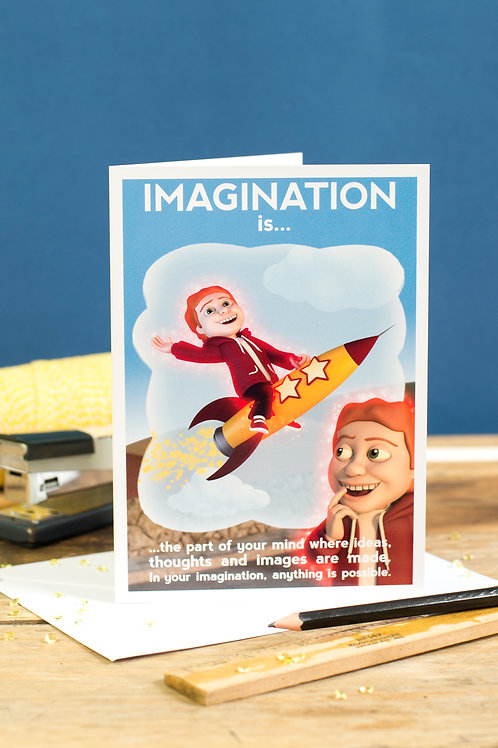 "Personalised ""Imagination"" Wellbeing Greeting"