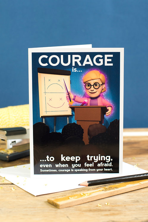 "Personalised ""Courage"" Wellbeing Greeting Card"