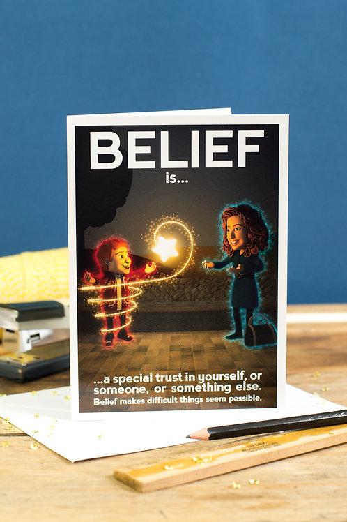 """Personalised """"Belief"""" Wellbeing Greeting Card"""