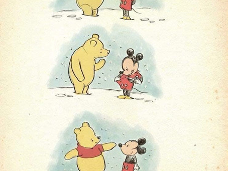 The Worry Wizard Loves ♥️...Pooh Bear and Mickey Mouse Wisdom.