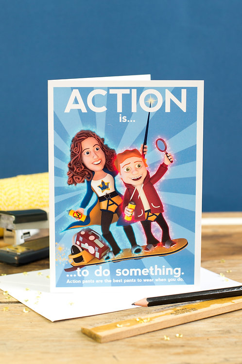 """Personalised """"Action"""" Wellbeing Greeting Card"""