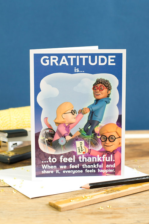"Personalised ""Gratitude"" Wellbeing Greeting Card"