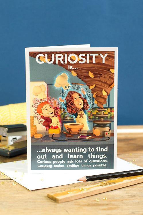"Personalised ""Curiosity"" Wellbeing Greeting Card"