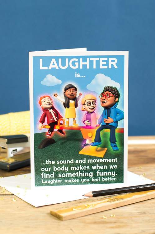 """Personalised """"Laughter"""" Wellbeing Greeting Card"""