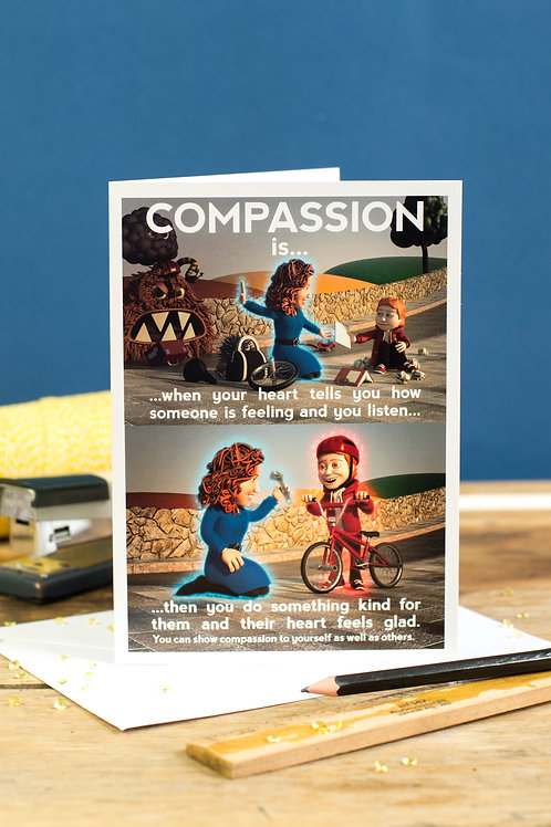 """Personalised """"Compassion"""" Wellbeing Greeting Card"""