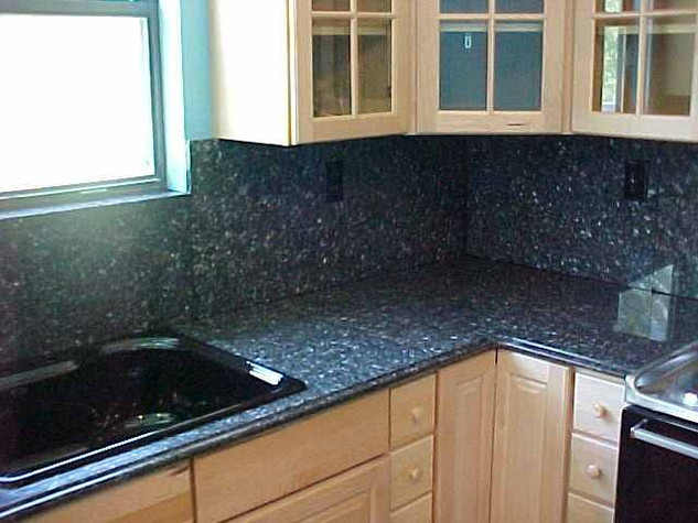 Blue Pearl Granite with Full Backsplash.
