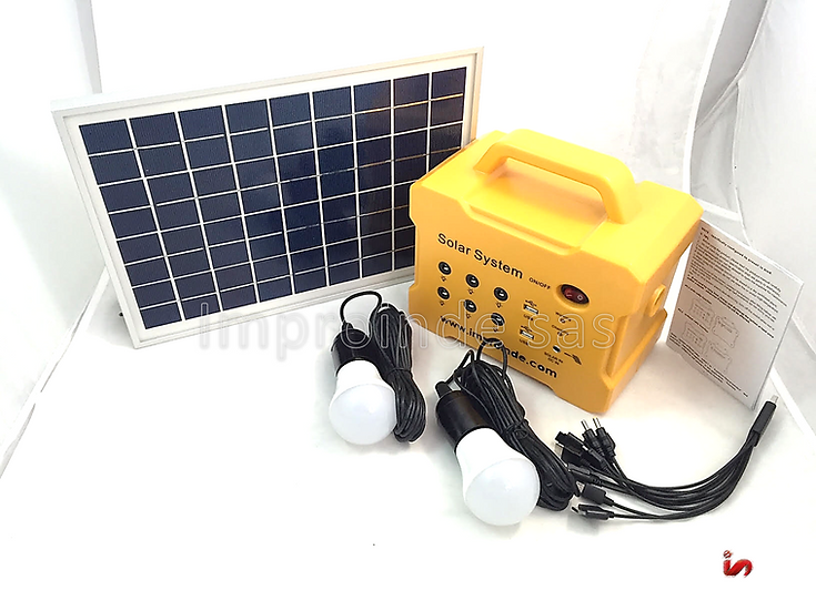 KIT Solar de iluminación 7000mah