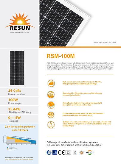 Panel Solar Monocristalino 100W