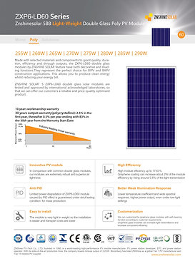 Panel Solar Policristalino 290W