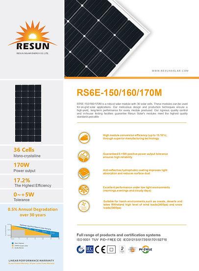 Panel Solar Monocristalino 160W
