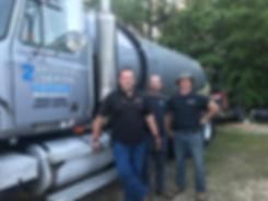 2 Brothers Septic team on pumping a tank near Bethlehem, GA