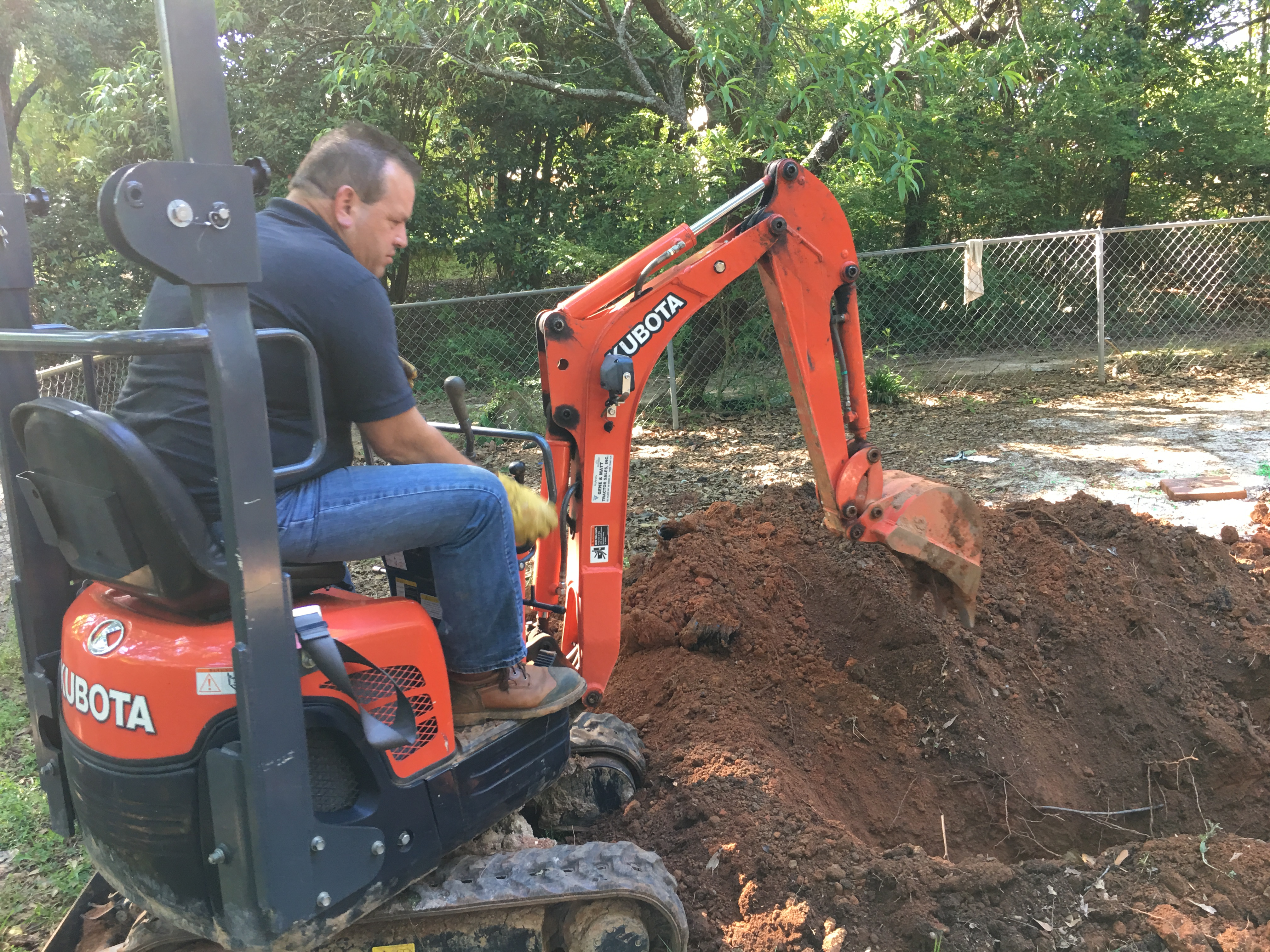 Septic tank and drain field install