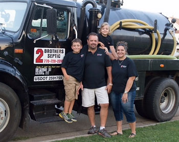 2 Brothers Septic Family with Pumping Truck in Winder, GA