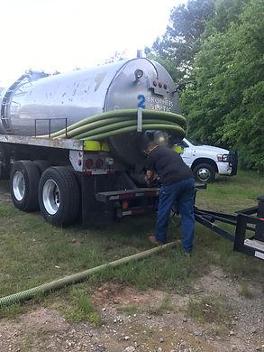 2 Brothers Septic pumping tank near Auburn, GA