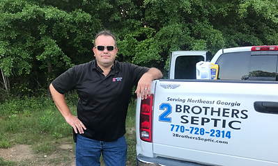 2 Brothers Septic owner Troy Todd at a leach field install in Winder, GA