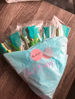 Cookie Bouquet: Blue Roses