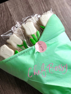 Cookie Bouquet_ White Roses