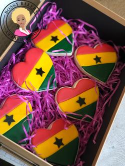 Ghana Flag Hearts