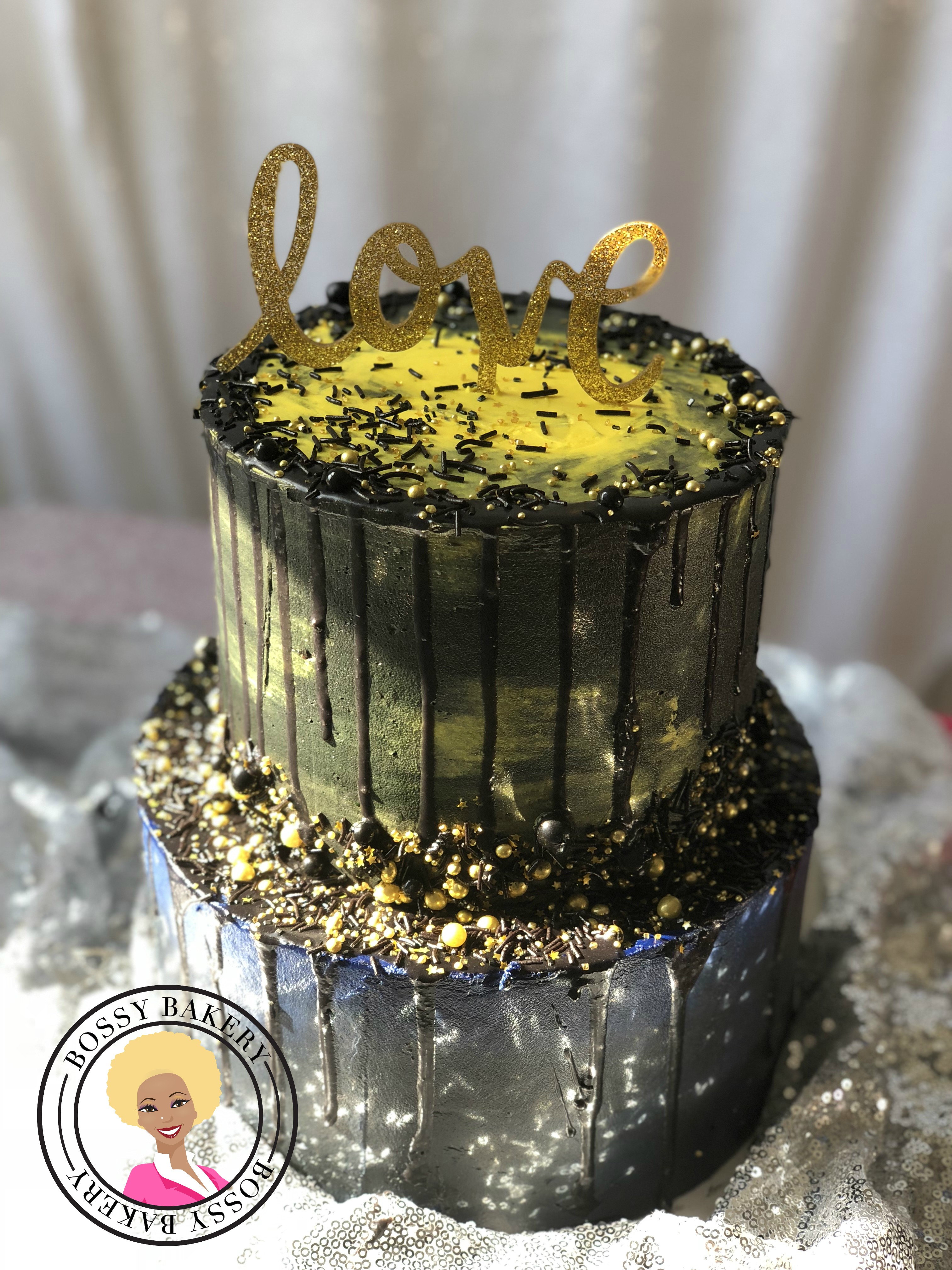 Dark Wedding Cakes!