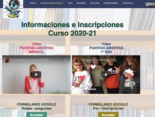 INFORMACIONES E INSCRIPCIONES CURSO 2020-2021