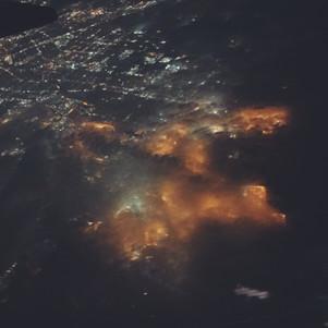 Airplane Views at Night