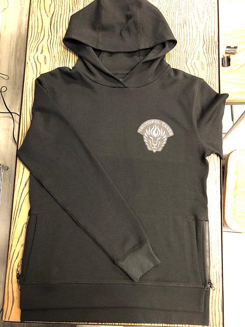 Black TRUTHFUL TAXES Side Zipper Hoodie