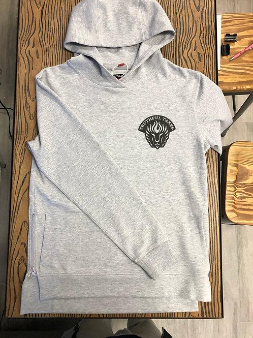 Gray TRUTHFUL TAXES Side Zipper Hoodie