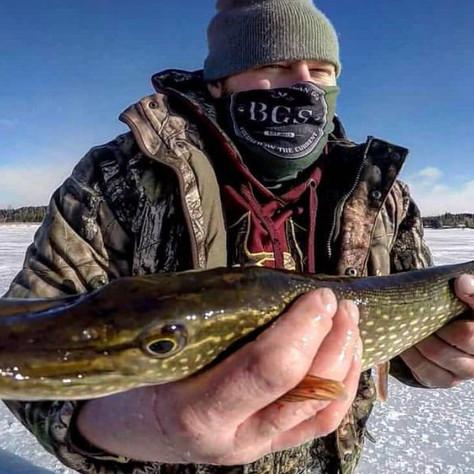 Island Lake Pike Ice Fishing