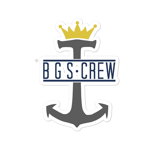 BGS CREW Anchor sticker 5.5x5.5