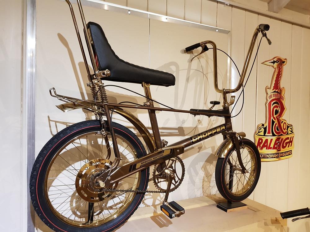 a photo of a Raleigh classic Chopper bike