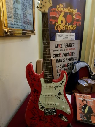 All the 60's acts signed this special raffle prize