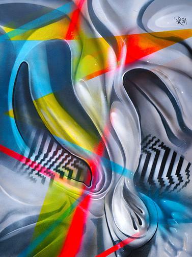 Print Chien Abstrait