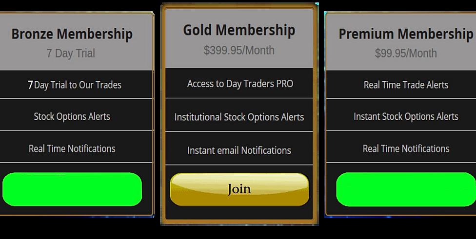 Stock option trade alerts
