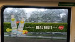 YEOS drinks inside MRT train