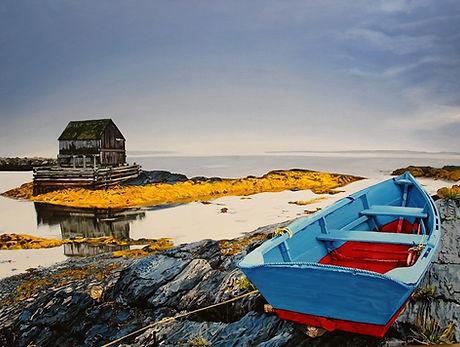 Atlantic Coast Acrylic Painting