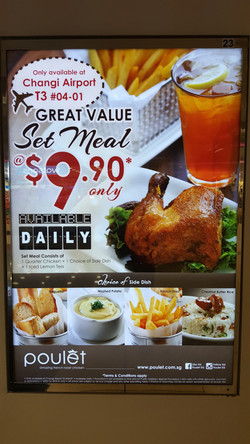 Poulet promotion at Changi Airport